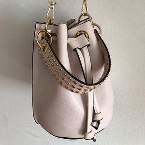 Bag (Zara) bucket leather bag.